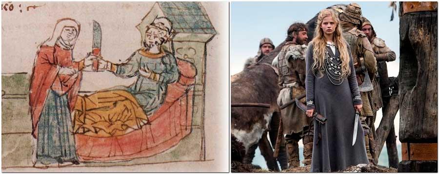 Сравнительный анализ изображения из Радзивиловской летописи с кадром фильма «Викинг»