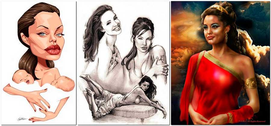 Популярность Анжелины Джоли