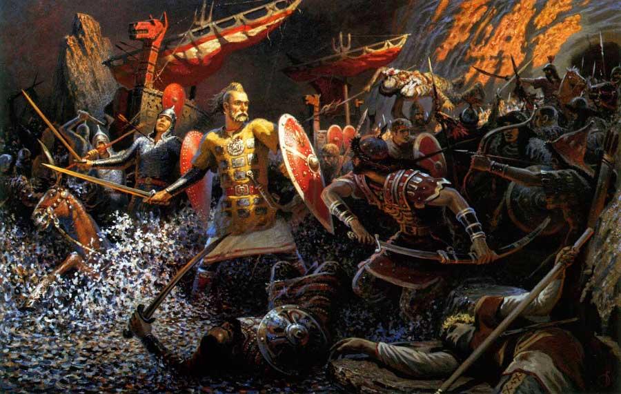Картина посвященная нашему князю Святославу