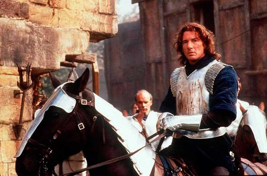 Игорь на лошади у стен Константинополя в 941 году