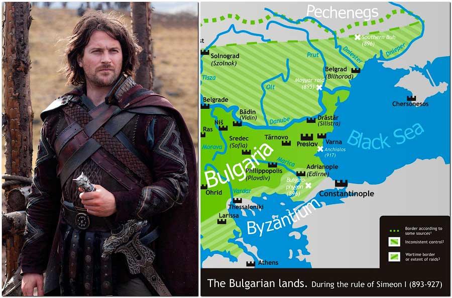 Карта Болгарского царства времён, когда жил Вещий Олег