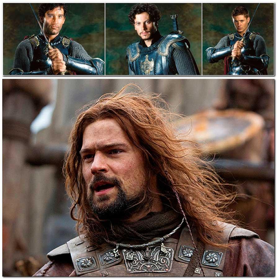 Портреты из фильмов «Король Артур» и «Викинг»