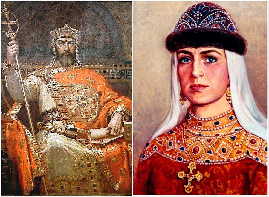 Константин Багрянородный и Ольга