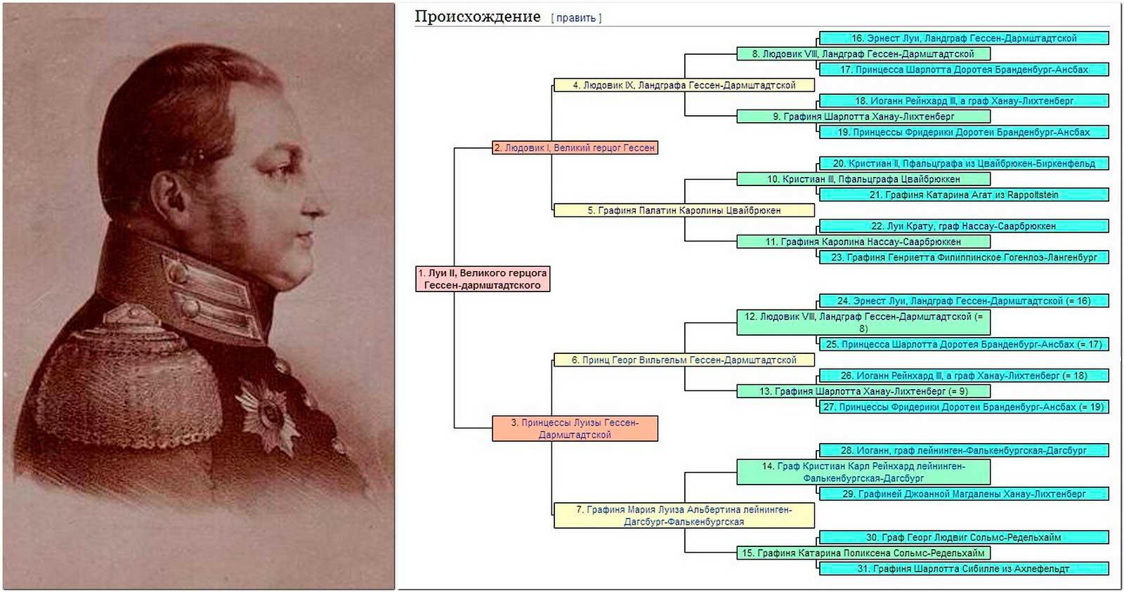 Родословная мужа принцессы Вильгельмины (шурачки императора Николая Павловича).