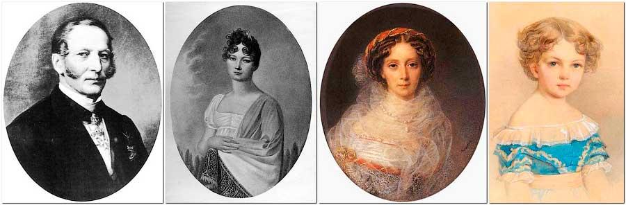 Императрица Мария Александровна, её родители и первая дочь Александра (внучка Николая I).