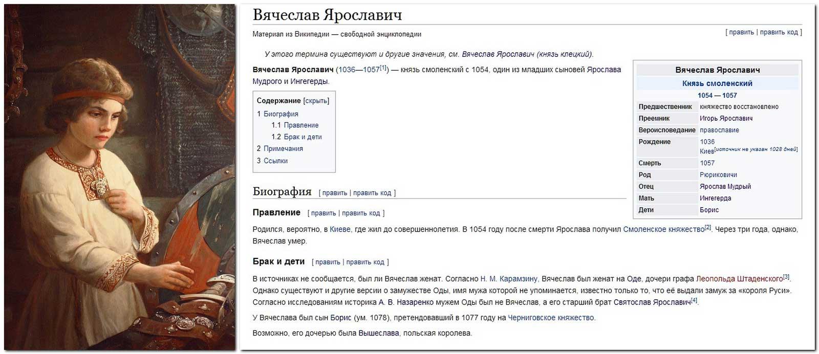 Персональная страница Вячеслава Ярославича