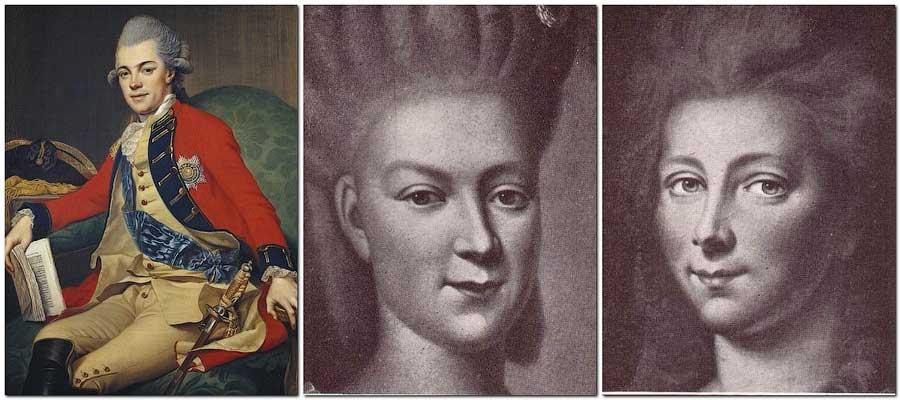 Две жены Карл II Мекленбург-Стрелицкого