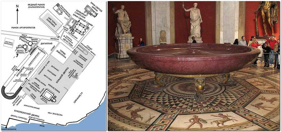 План дворца в Константинополе