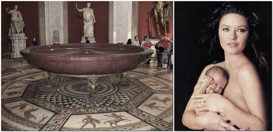 Рождение Константина Багрянородного в порфириевой чаше Багряного зала