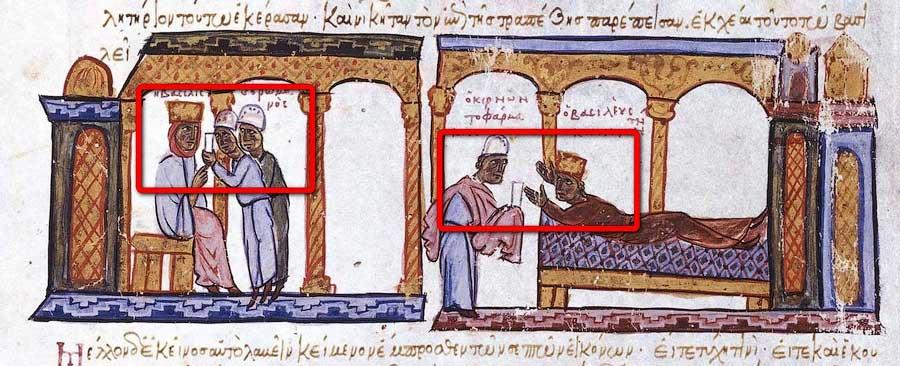 отравление императора Константина.
