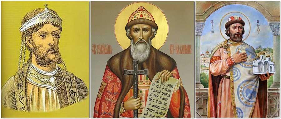 Император Василий, Владимир Креститель, Ярослав Мудрый