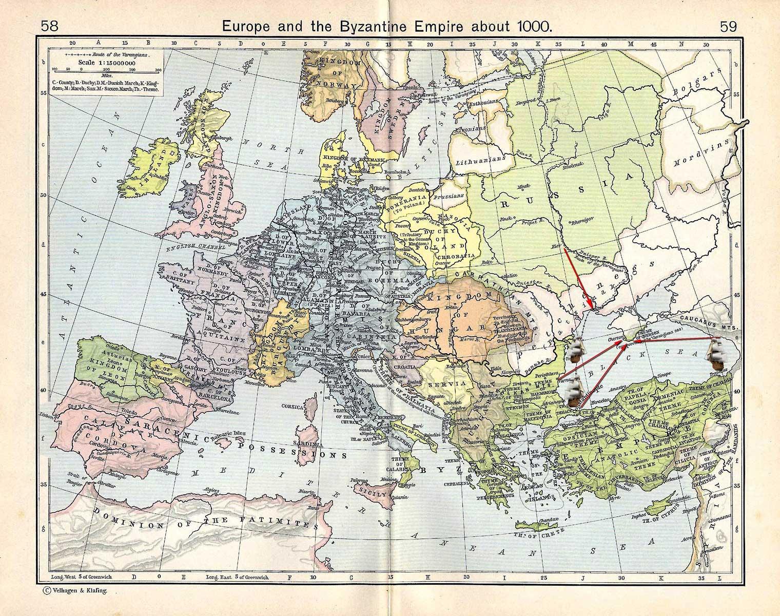 Карта X века
